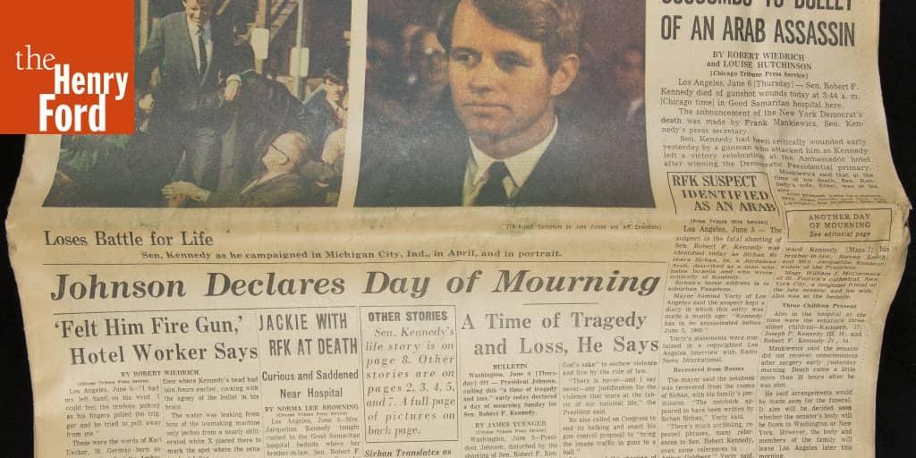 Chicago Tribune Newspaper, June 6, 1968,
